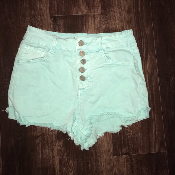 Charlotte Russe Pants - High waist jean shorts